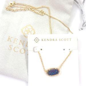 Kendra Scott Elisa Gold Necklace Multi Drusy NEW